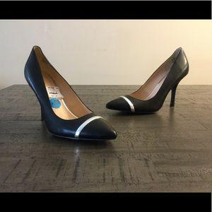Nine West black pointed toe heels